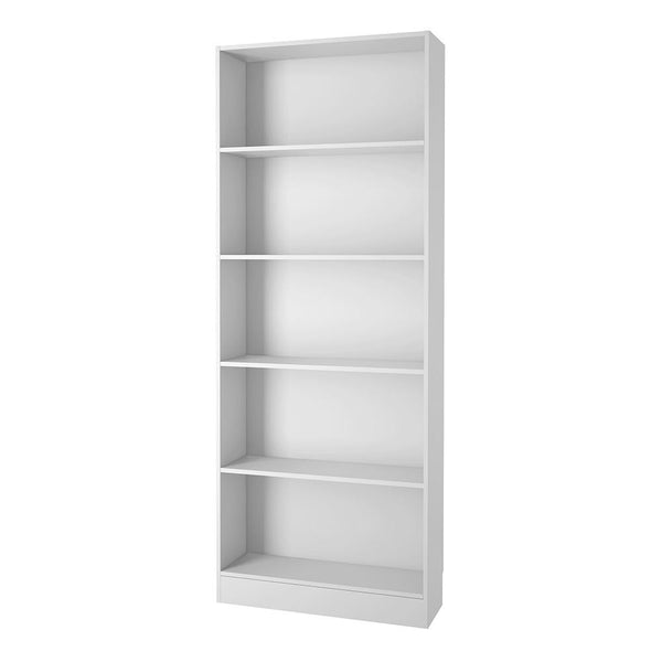 Tall Wide Bookcase In White - Home Affections