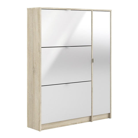 Large Mirrored Shoe Cabinet - Home Affections