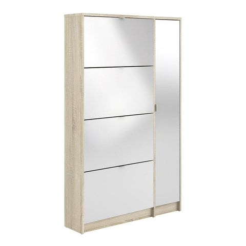 Tall Mirrored Shoe Cabinet - Home Affections
