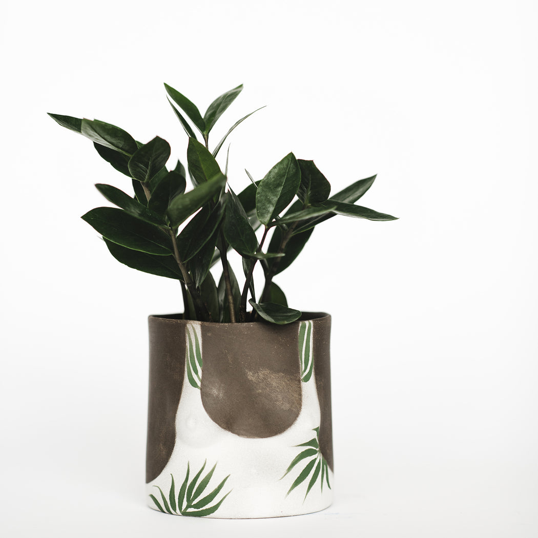 Dark Leaves Pot