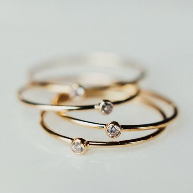Bezel Stackable Ring