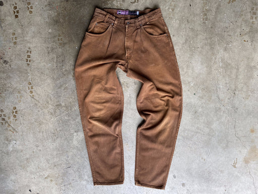 90's Brown Pleated Silver Tab Levi's