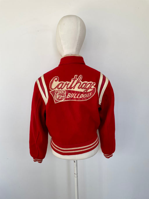 "Vintage ""Carthage Bulldogs"" Letterman Jacket"