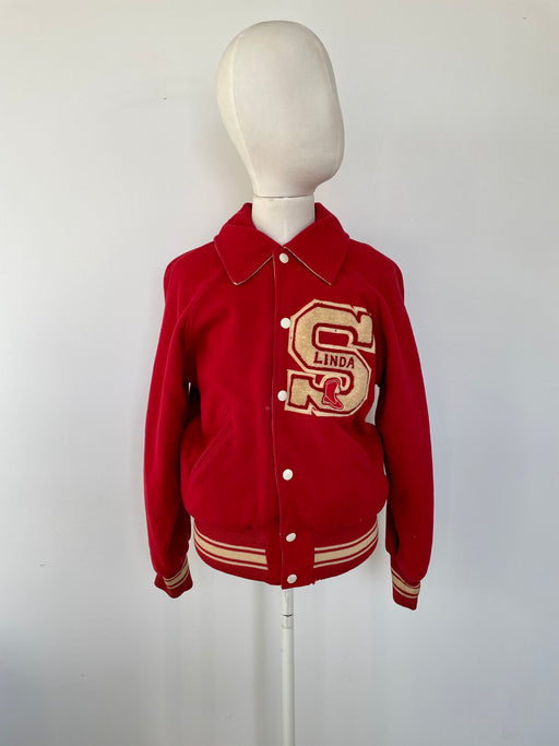 "50's ""L.V. Stockard"" Drillteam Letterman Jacket"