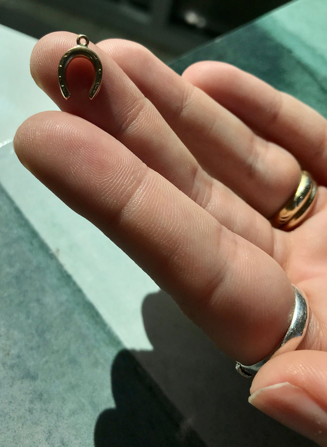 10k Yellow Gold Lucky Horseshoe Charm