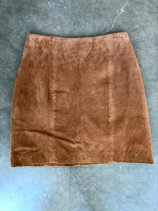 1980's JLC Suede Mini Skirt