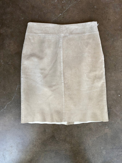 Vintage Suede Knee Length Skirt