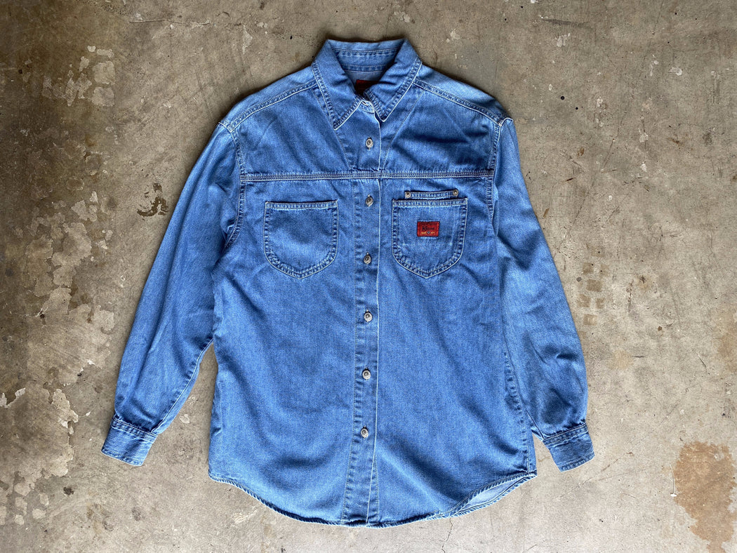 Chambray Utility Button Down