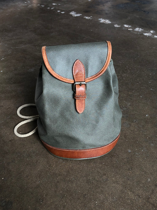 Vintage Green Canvas Backpack