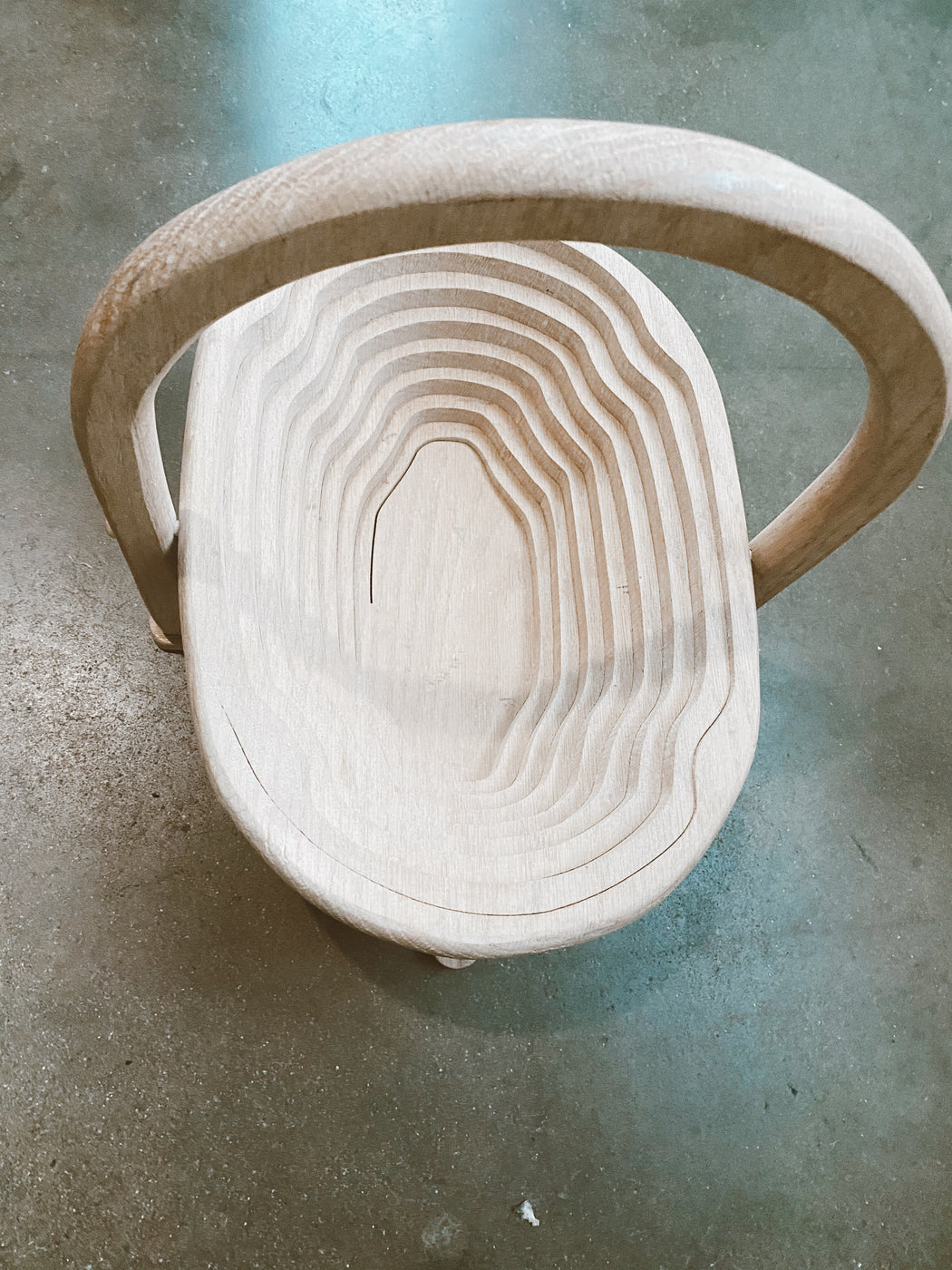 Carved Collapsible Wooden Basket