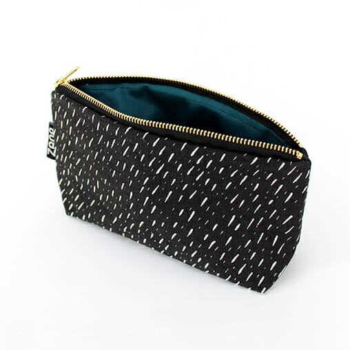 Black Specks Makeup Bag