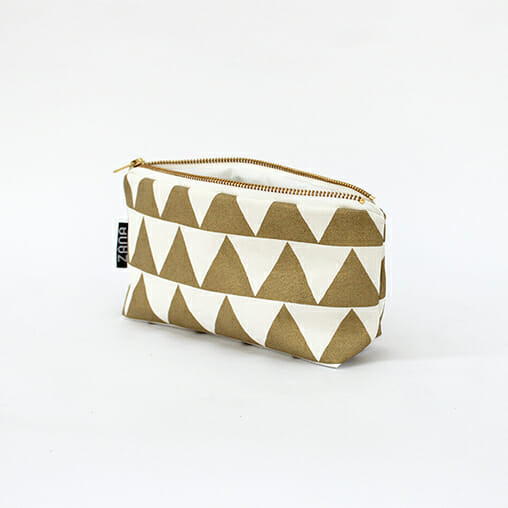 Gold Triangle Makeup Bag