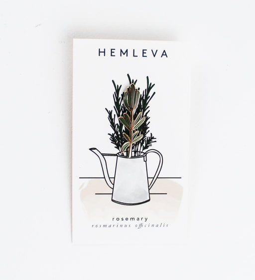 Hemleva, Samantha Leung, rosemary lapel pin, gold, vegan, cruelty free