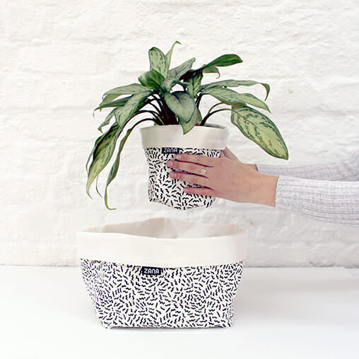 Buzzed Soft pot, fabric planter, zana, hand made, vegan, cruelty free, all natural