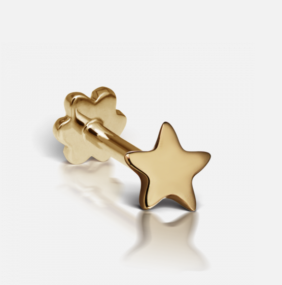 Maria Tash Plain Star Threaded Stud 5MM Post YG