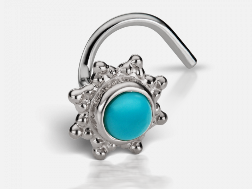 Maria Tash 2.75mm Turquoise Starburst Nostril Screw