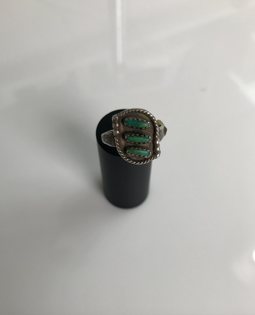 50-60s Turquoise Shadow Box Braided Ring