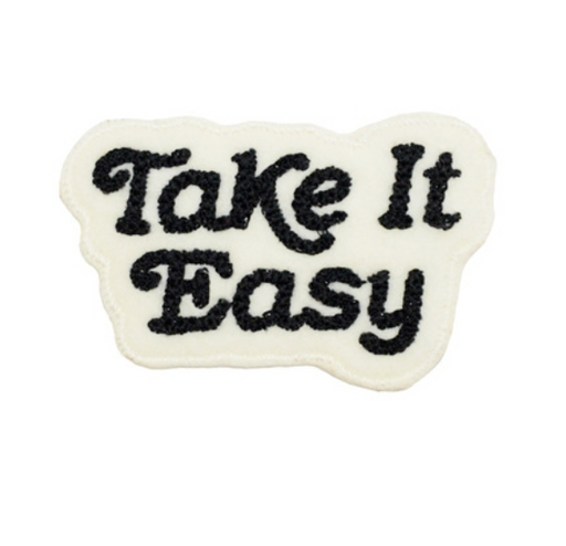 Take It Easy Chain Stitched Patch (Cream)