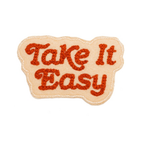 Take It Easy Chain Stitched Patch (Blush)