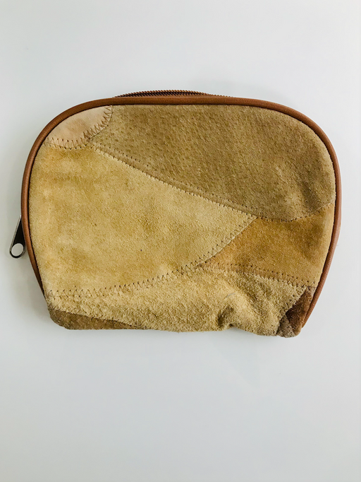 Patchwork Suede Makeup Bag