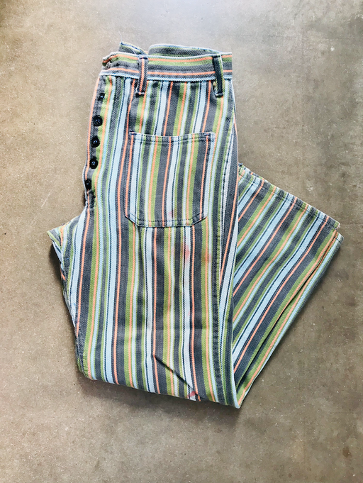 Womens Vintage Striped Jeans
