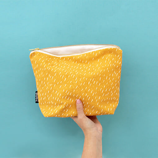Yellow Specks Toiletry Bag