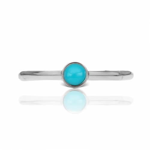 Maria Tash 8mm Vertical Turquoise Fixed Bead Ring