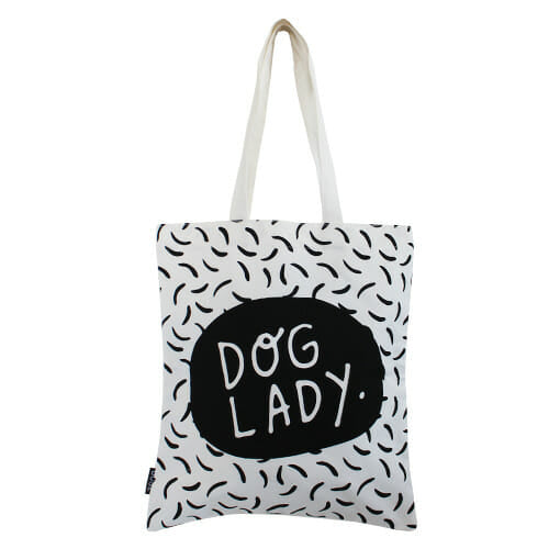 Dog Lady Tote Bag