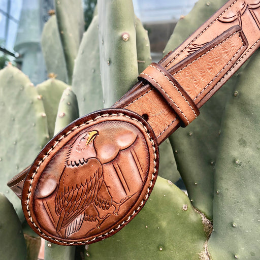 Vintage Handmade Eagle Belt