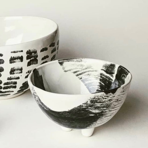 Atavist studio ceramics, ceramic bowl, vegan, cruelty free, bowl with feet