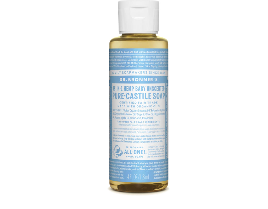 4oz Dr. Bronner's Unscented Castile Soap