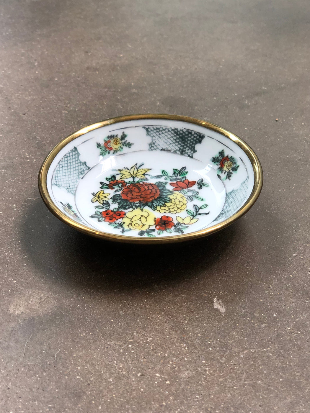 Vintage Floral Catch All Dish