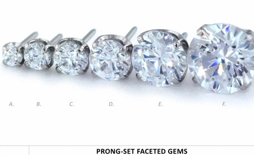 NEOMETAL Prong Set Faceted Gems CZ