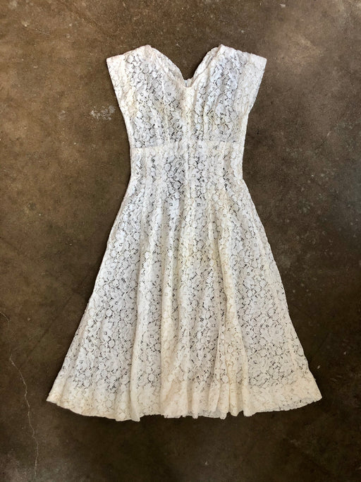 Vintage Lace Cap Sleeve Dress
