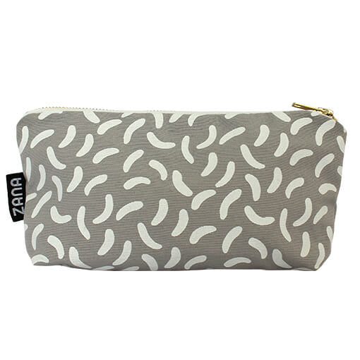 Confetti Grey Makeup Bag
