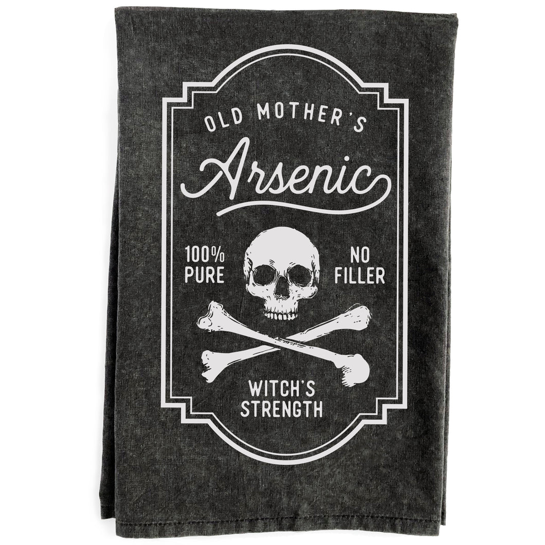 Old Mother's Arsenic Black Kitchen Towel