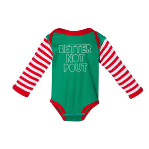 Better Not Pout Infant Onesie