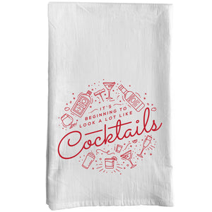It's Beginning to Look a lot like Cocktails Towel