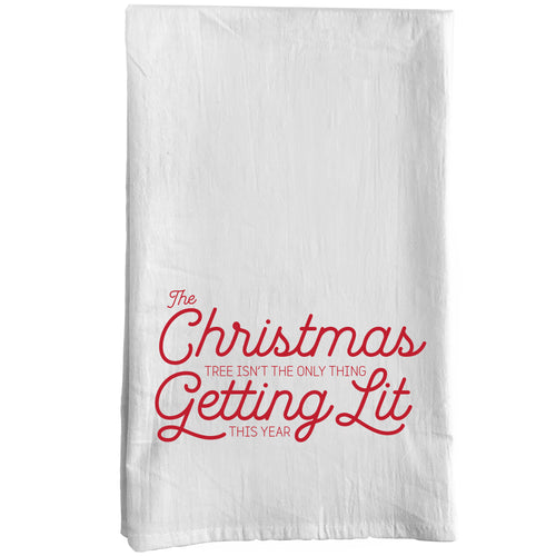 Lit Christmas Towel
