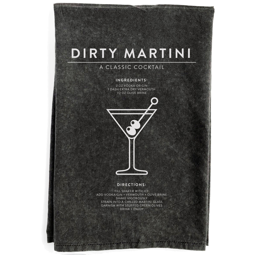 Dirty Martini Black Towel