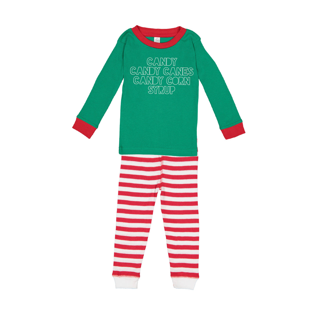 Elf Food Groups Kids Jammies
