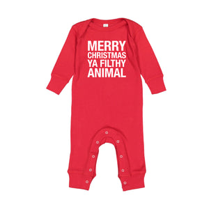 Merry Christmas Ya Filthy Animal Infant Jammies