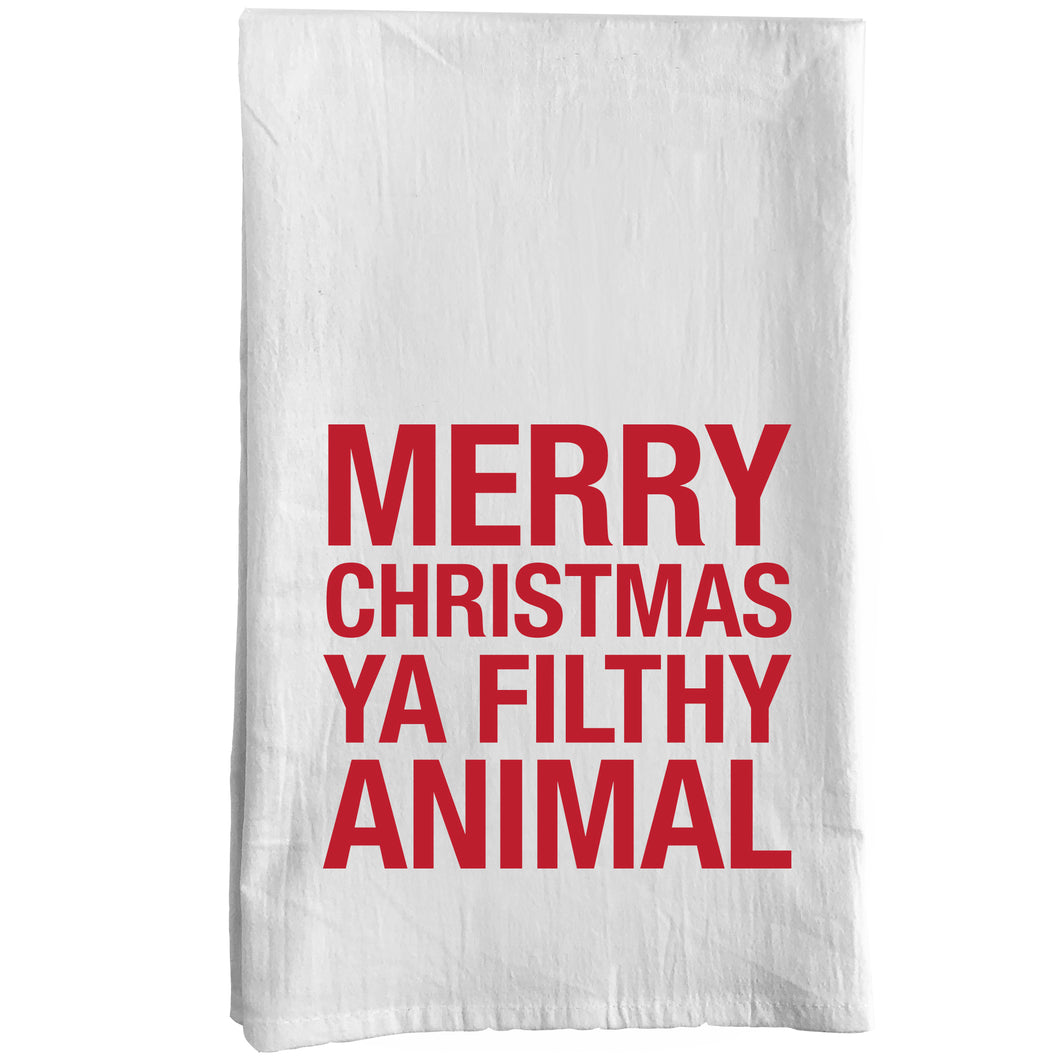 Merry Christmas Ya Filthy Animal Towel