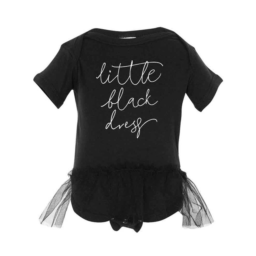 Little Black Dress Infant Onesie
