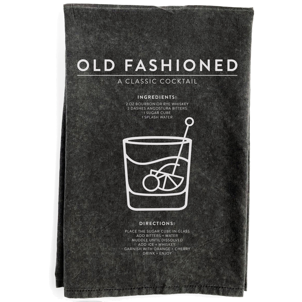 Old Fashioned Black Towel