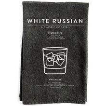 Load image into Gallery viewer, White Russian Black Towel