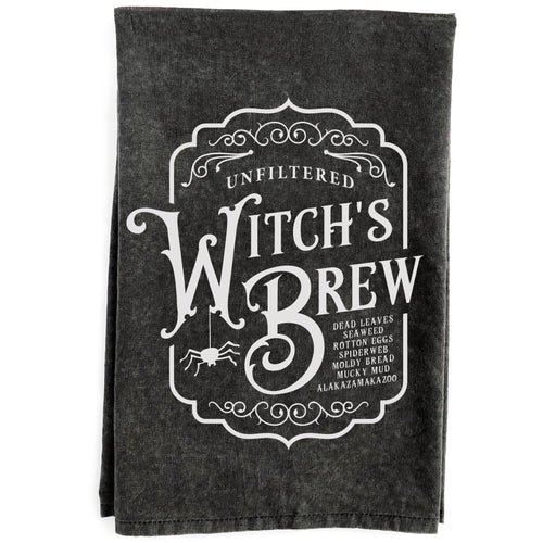 Witch's Brew Black Kitchen Towel