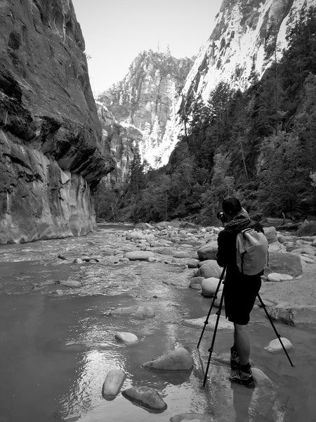 Photographing at Zion National Park, UT.