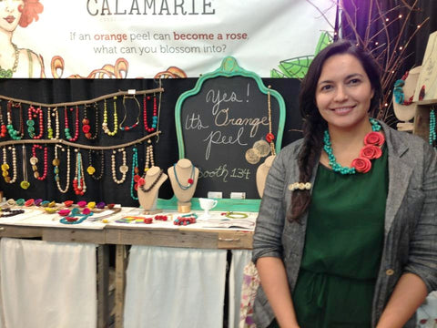 Calamarie Founder Catalina Lemaitre at the New York Gift Fair, Jan 2013