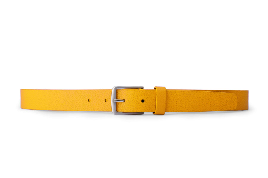 CANARY YELLOW LUXURY LEATHER BELT